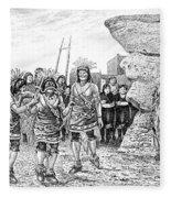 Hopi Indian Snake Dance Fleece Blanket