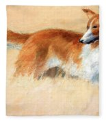 Hopper's Cape Cod Evening -- The Dog Fleece Blanket