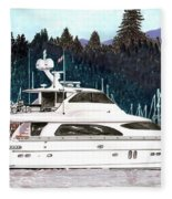 Vancouver Rowing Club Fleece Blanket