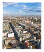 Horizontal Aerial View Of Berlin Fleece Blanket