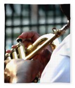 Horn Player Pk 0071 Fleece Blanket