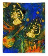 Horns And Other Things Fleece Blanket
