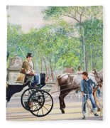 Horse And Carriage Fleece Blanket