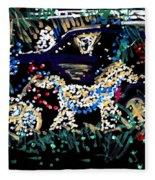 Horse And Carriage  Fleece Blanket