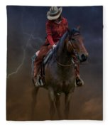 Horse And Rider Fleece Blanket