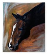 horse - Apple copper Fleece Blanket