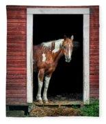 Horse - Barn Door Fleece Blanket