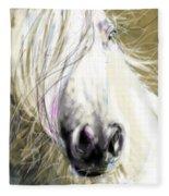 Horse Blowing In The Wind Fleece Blanket