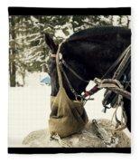 Horse Cinema Style Fleece Blanket