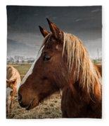 Horse Composition Fleece Blanket