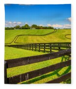 Horse Farm Fences Fleece Blanket