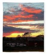 Horse Farm Story Fleece Blanket