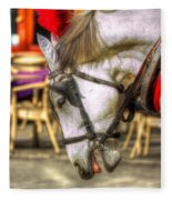 Horse In Cracow Fleece Blanket