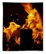 Horse In The Fire Fleece Blanket