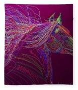Horse Of Fire Fleece Blanket