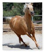 Horse On The Run Fleece Blanket