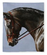 Horse Painting - Discipline Fleece Blanket