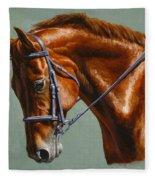 Horse Painting - Focus Fleece Blanket