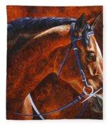 Horse Painting - Ziggy Fleece Blanket