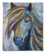 Horse Portrait 102 Fleece Blanket