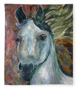 Horse Portrait 103 Fleece Blanket