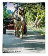 Horse Powered Mackinac Island Fleece Blanket
