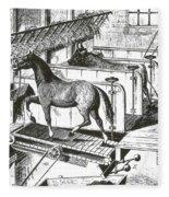 Horse Powered Stall Cleaner, 1880 Fleece Blanket