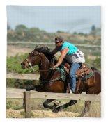 Horse Race Fleece Blanket