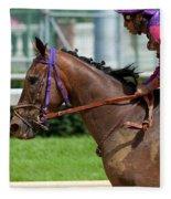 Horse Racing Fleece Blanket