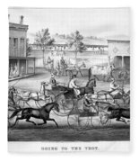 Horse Racing, C1869 Fleece Blanket