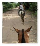 Horse Riding Fleece Blanket