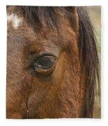Horse Tear Fleece Blanket