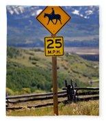 Horseback Riding Sign Fleece Blanket