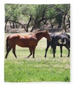 Horses Out Wickenburg Way Fleece Blanket