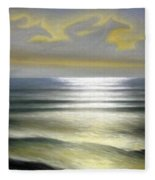 Horses Over Sea Fleece Blanket