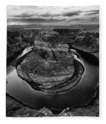 Horseshoe Bend Arizona Monochrome Fleece Blanket