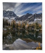 Horseshoe Lake Cloud Dramatic Fleece Blanket