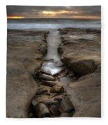 Horseshoes Beach Tidepools Fleece Blanket