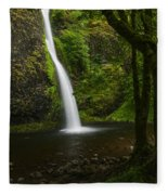 Horsetail Falls Columbia River Gorge Fleece Blanket