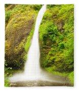 Horsetail Falls In The Spring Fleece Blanket
