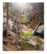Horsethief Falls Sunburst - Cripple Creek Colorado Fleece Blanket