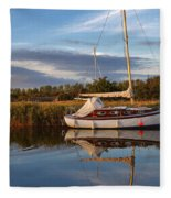 Horsey Mere In Evening Light Fleece Blanket