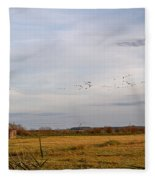 Horsey Windmill In Autumn Fleece Blanket