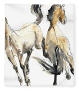Horsing, 2013 Watercolour And Pigment On Paper Fleece Blanket