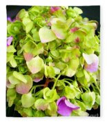 Hortensia With Touch Of Pink Fleece Blanket