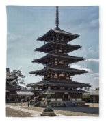 Horyu-ji Temple Pagoda - Nara Japan Fleece Blanket