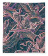 Host Of Angels Pink Fleece Blanket