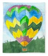Hot Air Balloon 01 Fleece Blanket
