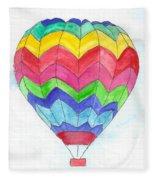 Hot Air Balloon 02 Fleece Blanket