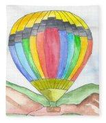 Hot Air Balloon 03 Fleece Blanket